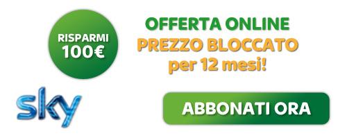 Risparmi 100€, OFFERTA ONLINE: Sconto Installazione. ABBONATI ORA