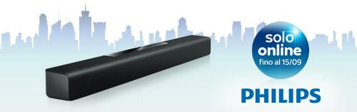 Philips Soundbar, solo online fino al 15 settembre.